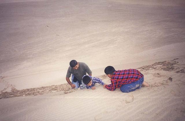 Hitting the dunes, and falling in love with it... a snapshot from 1999, with friends who soon after moved to boring Dubai.